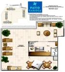 Planta Edifício Brisa Carioca   apartamento 1302 - pavimento superior