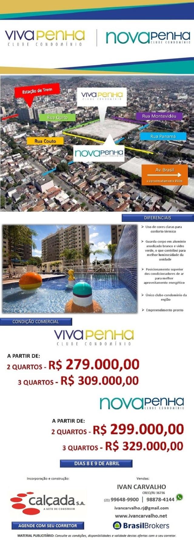 Nova Penha | Viva Penha | apartamentos de 3 e de 2 quartos no maior e melhor clube condomínio da região da Penha